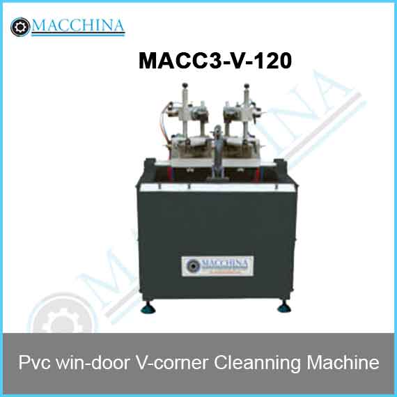 Pvc win-door V-corner Cleanning Machine