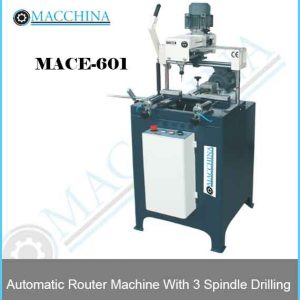 Automatic Router Machine With 3 Spindle Drilling